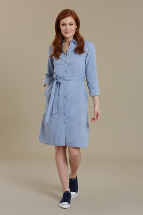 Manhattan Chambray Womens Shirt Dress