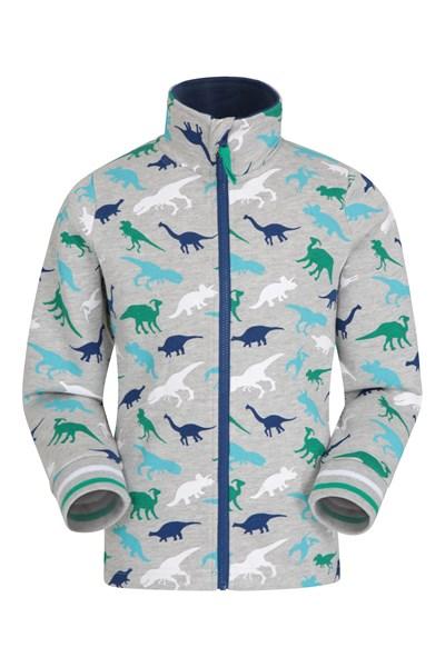 Skye Printed Kids Full-Zip Sweatshirt - Grey