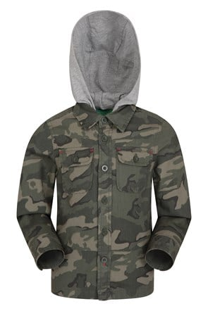 Camo Lightweight Kids Shacket