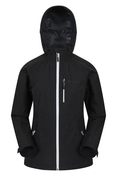 2.5 Layer Lightweight Womens Waterproof Jacket - Black