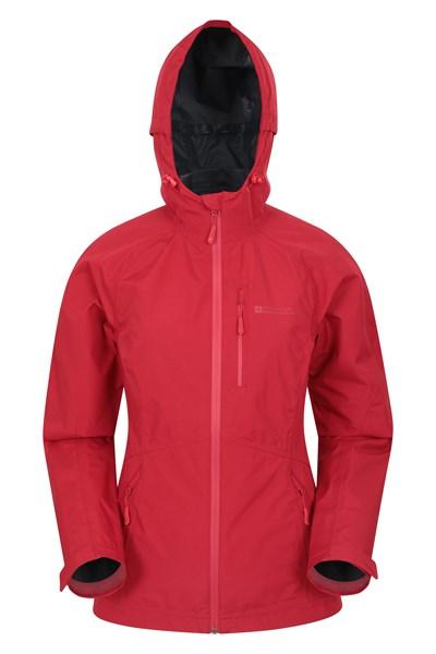 2.5 Layer Lightweight Womens Waterproof Jacket - Red