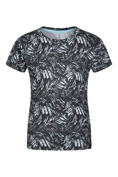 Track Printed Kids T-Shirt - Black
