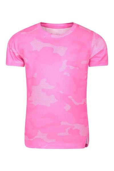 Track Printed Kids T-Shirt - Pink