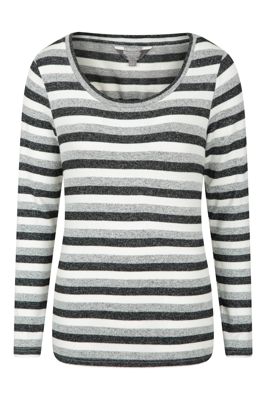 Stripe - sweter damski - Grey