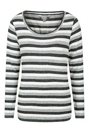 Stripe Womens Knitted Jumper