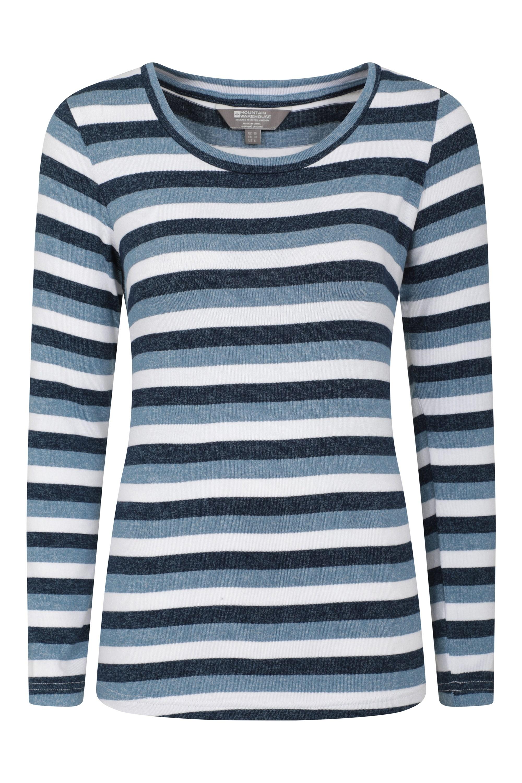 Stripe - sweter damski - Navy