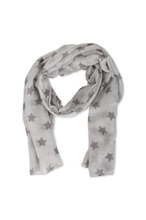 Star Printed Lightweight Scarf