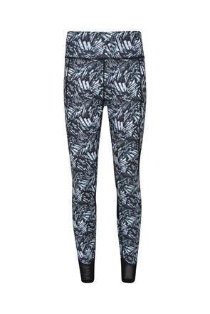 Patterned Paneled - legginsy z wysokim stanem
