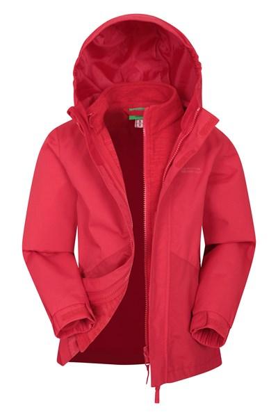 Hailstorm 3-in-1 Kids Waterproof Jacket - Red