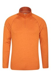 Echo Melange Recycled Mens Half-Zip Midlayer
