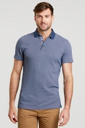 Polo Homme Geo Jacquard