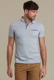 Geo Print Slim Fit Mens Polo