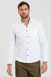 Coconut Textured Mens Long Sleeved Shirt