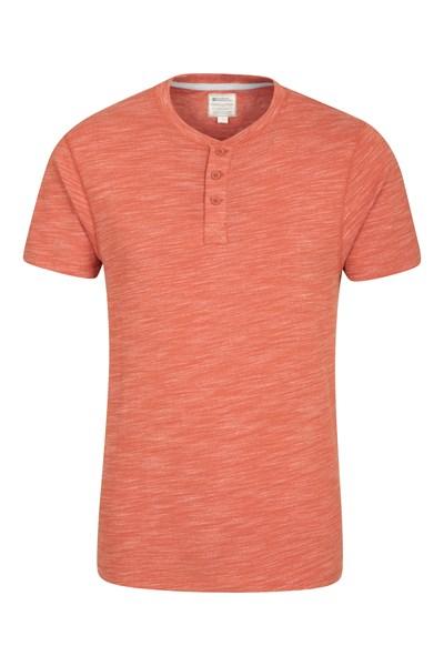Hasst Henley Mens T-Shirt - Orange