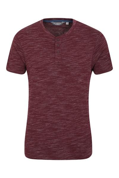 Hasst Henley Mens T-Shirt - Burgundy