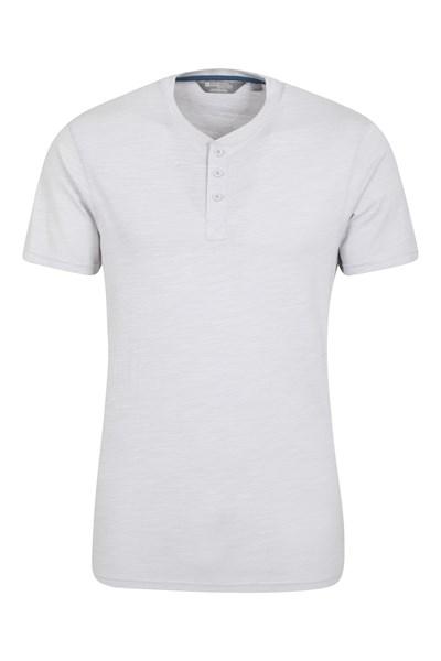Hasst Henley Mens T-Shirt - Grey