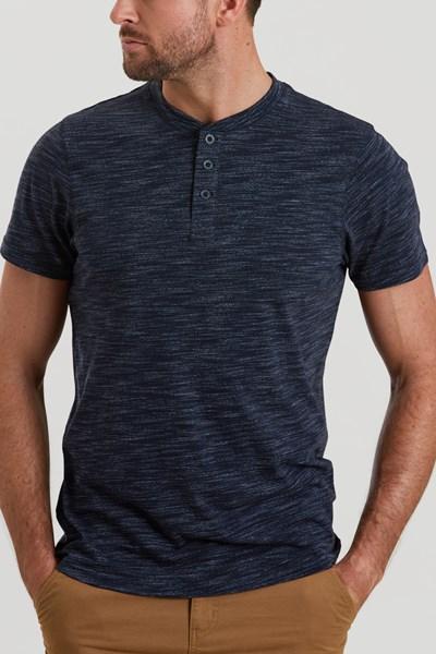 Hasst Henley Mens T-Shirt - Navy
