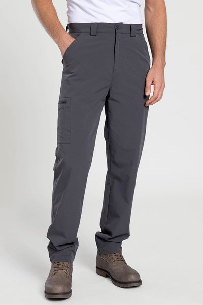 Beam Mens Stretch Trousers - Grey