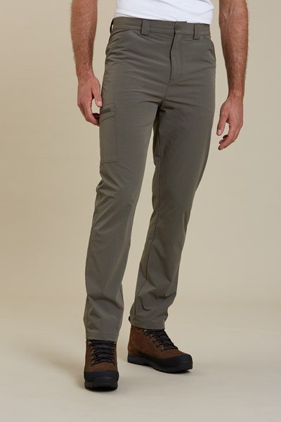 Beam Mens Stretch Trousers - Green