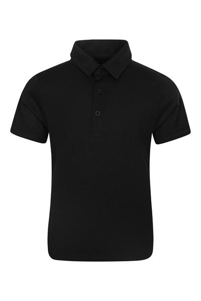 Active Kids Polo T-Shirt - Black