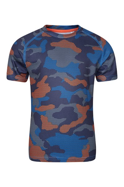 Printed Track Boys T-Shirt - Blue