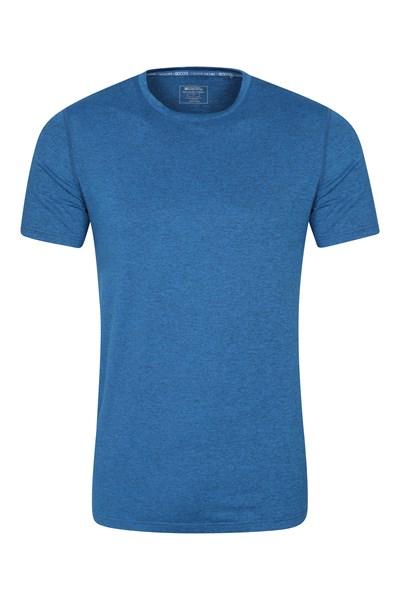 Echo Melange Mens Recycled T-Shirt - Blue