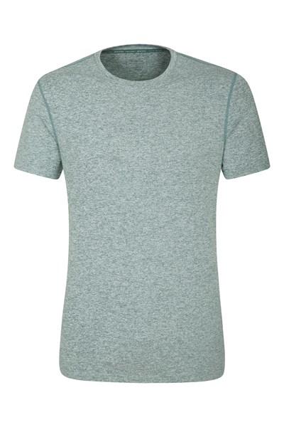 Echo Melange Mens Recycled T-Shirt - Green