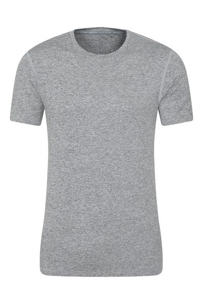 Echo Melange Mens Recycled T-Shirt - Grey