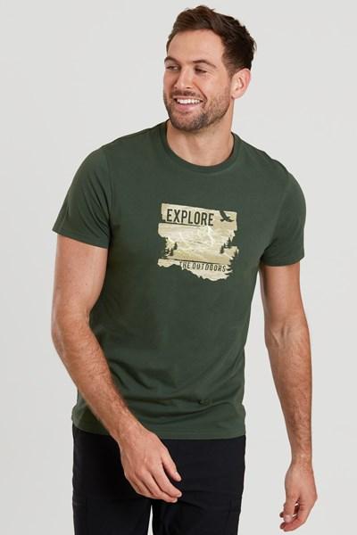 Outdoor Explorer Mens T-Shirt - Brown