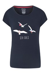 Sea Gals Printed Womens T-Shirt