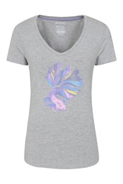 Japanese Fighting Fish Printed Womens Tee