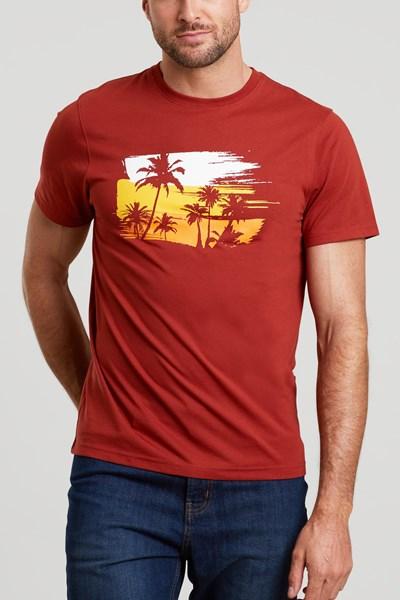 Palm Mens T-Shirt - Orange