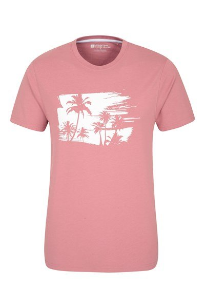 Palm Mens T-Shirt - Pink