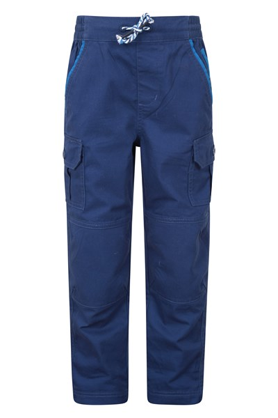Rumble Cargo Kids Trousers With Re-Enforced Knee - Navy