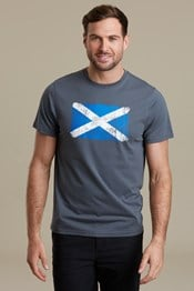 Scottish Textured Flag Mens T-Shirt