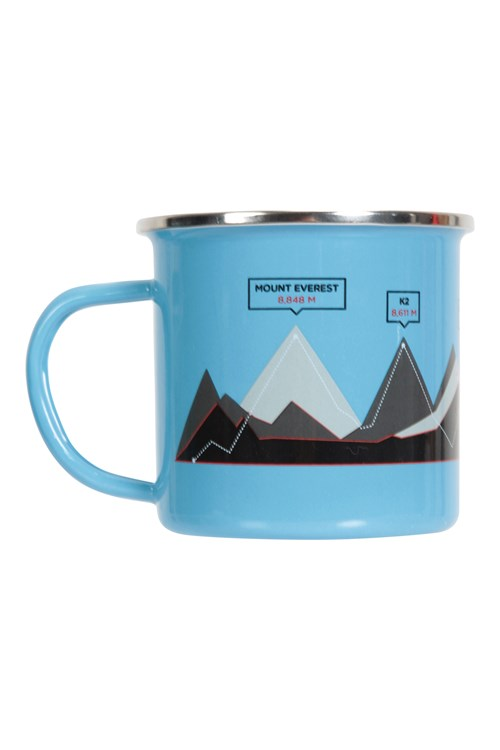 Mountain Warehouse Uni Enamel Mug 3 World Peaks