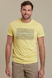 Linear Mountain Mens T-Shirt
