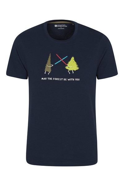 May The Forest Be With You Mens T-Shirt - Navy