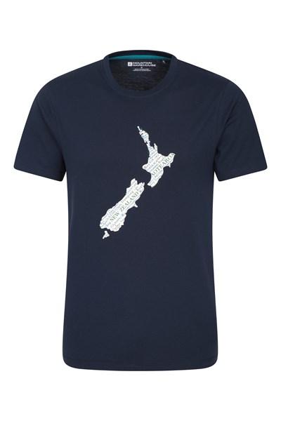 New Zealand Mens T-Shirt - Navy