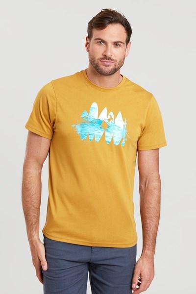 Beach Break Mens T-Shirt - Yellow