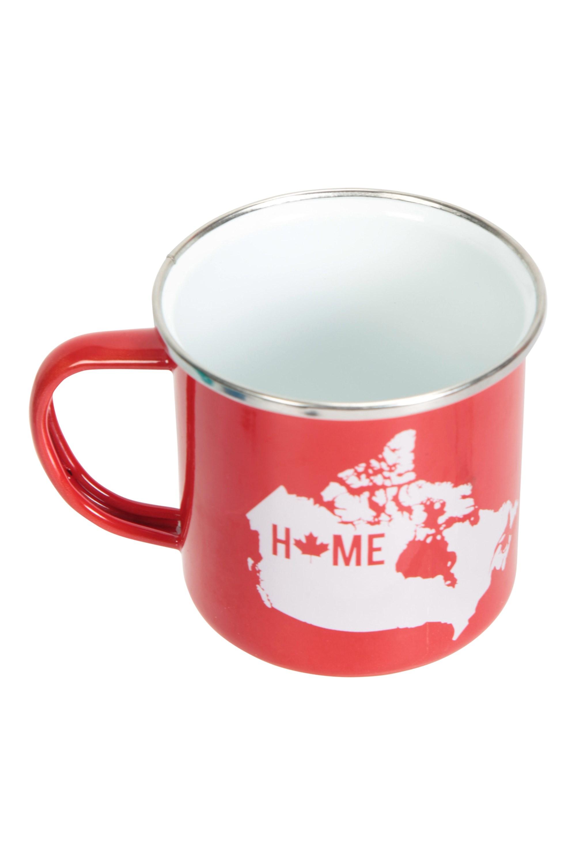Mountain Warehouse Enamel Mug Canada Home Red