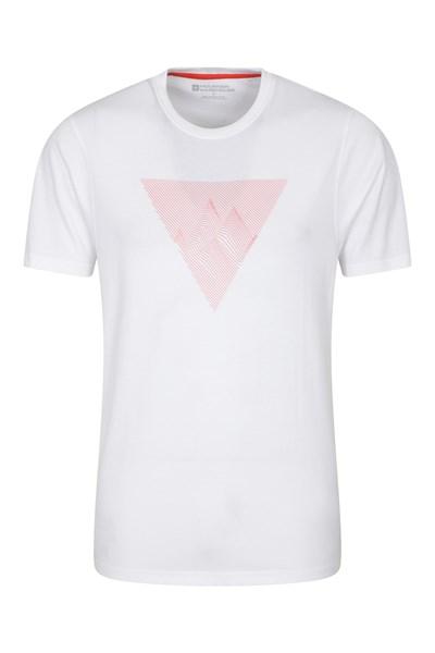 Tri Linear Mens T-Shirt - White