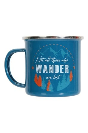 Not All Who Wander - Emaille Tasse