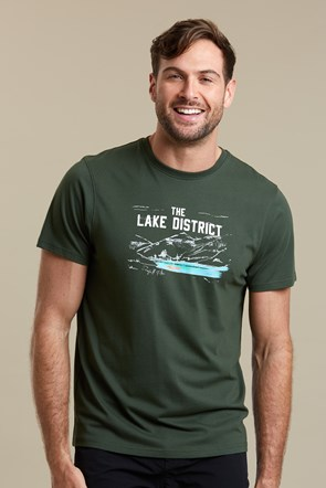 Lake District Sketch Mens Tee
