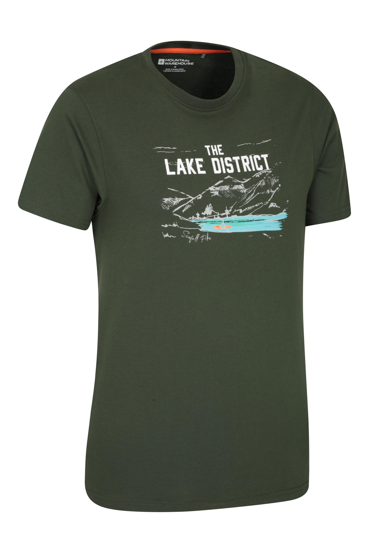 Mountain Warehouse Men Lake District Sketch Tee Tshirt