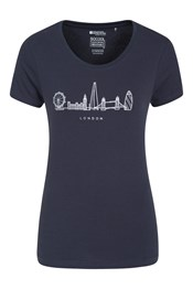London Outline Printed Womens T-Shirt