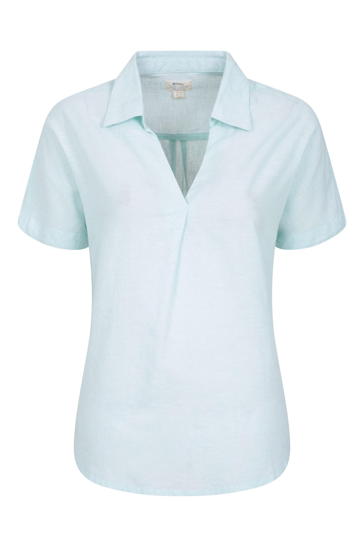 Breeze Linen - koszula damska - Green