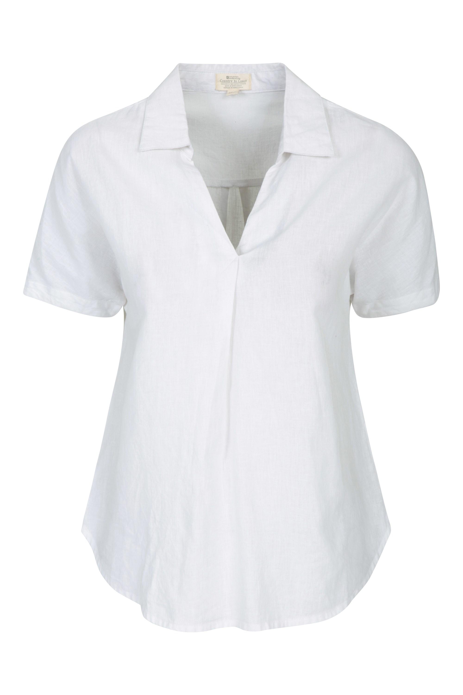 Breeze Linen - koszula damska - White