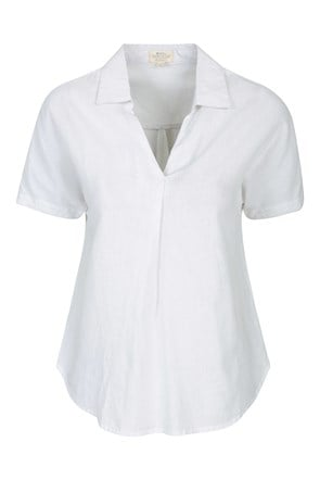 Breeze Linen Womens Short Sleeve Shirt