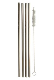 Reusable Metal Straws - 4Pk